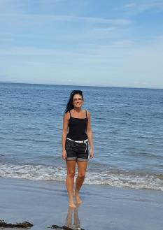 Gillian at the beach